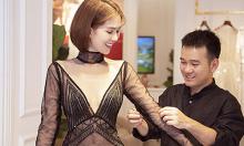 Ngọc Trinh thử váy xuyên thấu dự show Lê Thanh Hòa