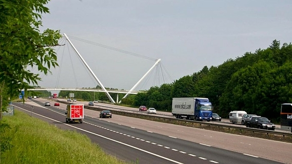Cao tốc  M20, nơi phát hiện 9 người di cư trong xe tải gần hạt Essex. Ảnh: Sky News.