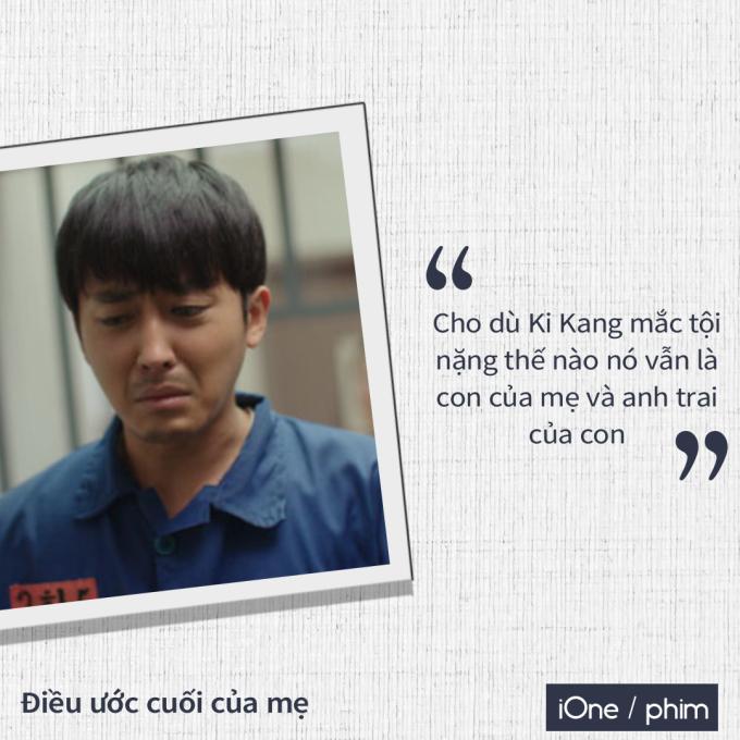 """<p> Hành động xốc nổi này mang đến án tù đầu tiên cho Ki Kang. Bà mẹ Soon Ok dù nghèo khó vẫn cố gắng lo tiền """"đi cửa sau"""" để đưa con ra tù.</p>"""