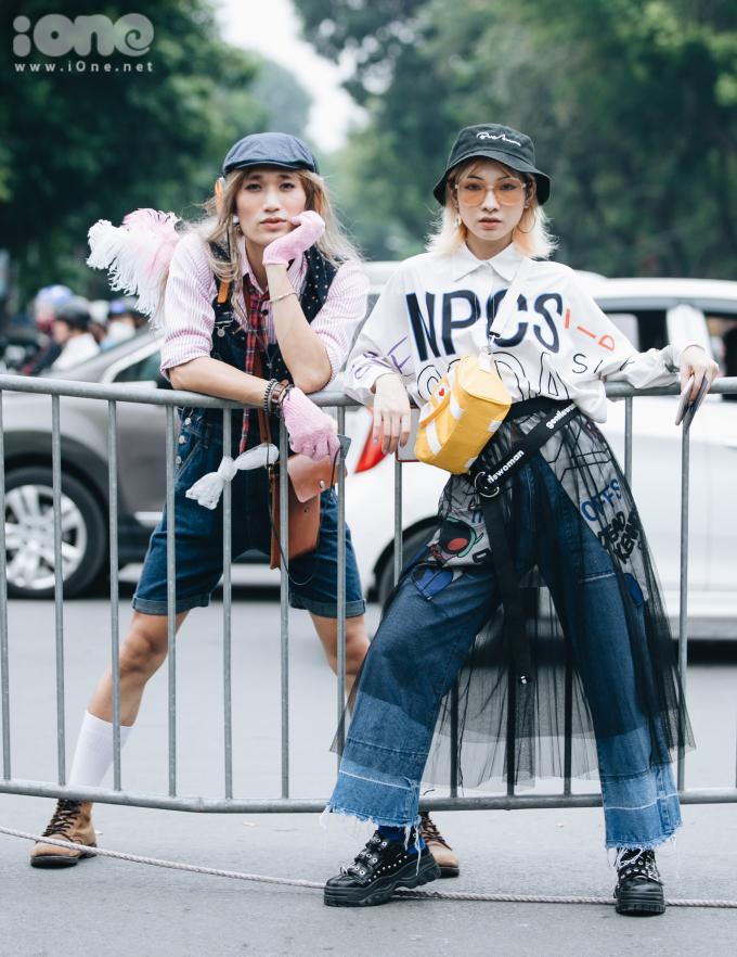 Fashionista Hà thành lên đồ dạo phố như đi lễ hội hóa trang