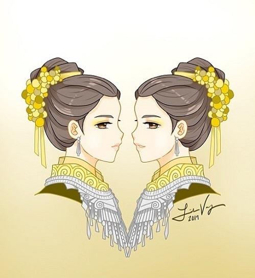12 cung hoàng đạo với tạo hình thiếu nữ Hmong - 2
