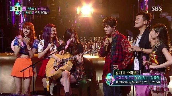 Các thành viên BlackPink tại chương trình truyền hình mang bối cảnh hộp đêm của JYP - Party People.