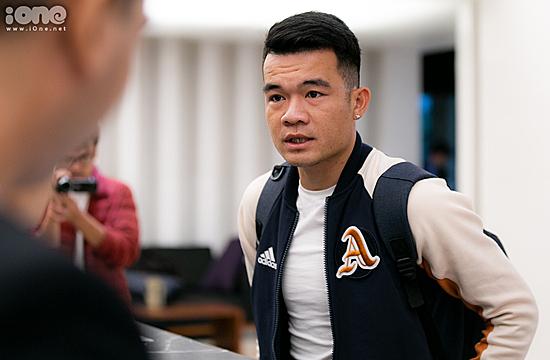 Hoàng Thịnh là một trong những cầu thủ lên tập trung sớm. Ảnh: Đình Tùng.