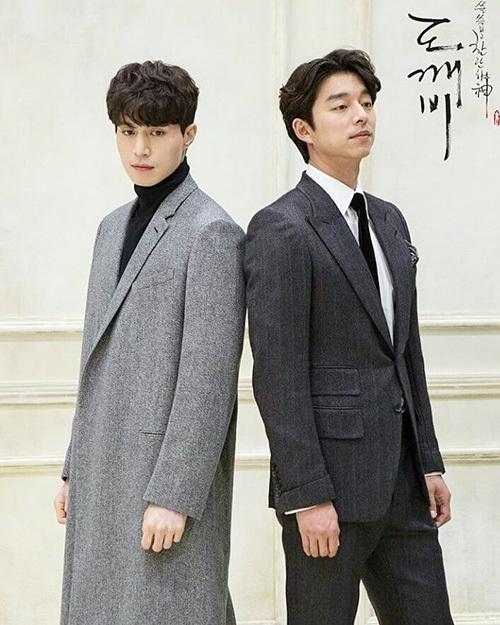 Gong Yoo - Lee Dong Wook (vest đen) là cặp Thần chết - Yêu tinh nổi tiếng của phim Goblin. Cả hai được các fan gán ghép nhiệt tình từ trên phim đến đời thực.