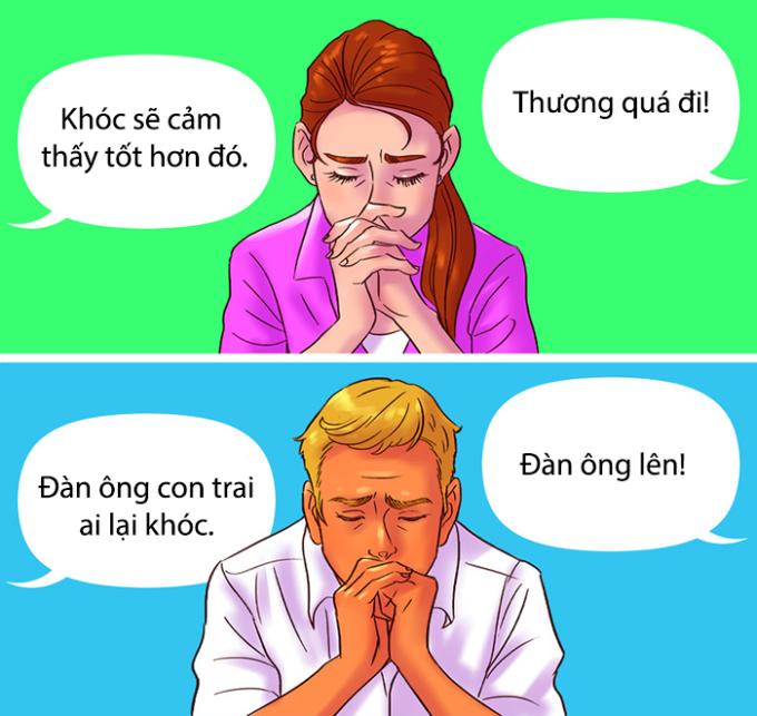 <p> Nhiều người sai lầm khi cho rằng đàn ông khóc là yếu đuối.</p>