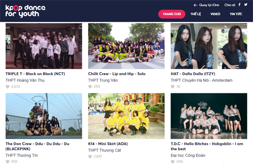 Trang chủ cuộc thi Kpop Dance For Youth.