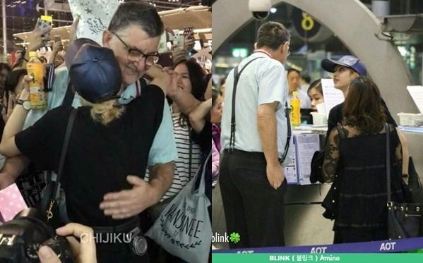 Mỗi lần về Thái Lan, bố dượng của Lisa đều ra đón.