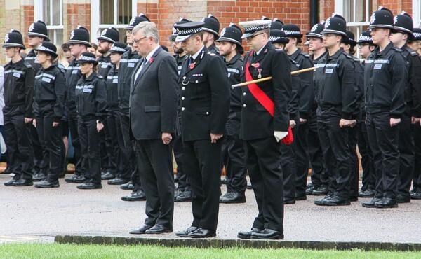Lễ tưởng niệm các nạn nhân tại Grays, Essex hôm 1/11. Ảnh: Essex Police.
