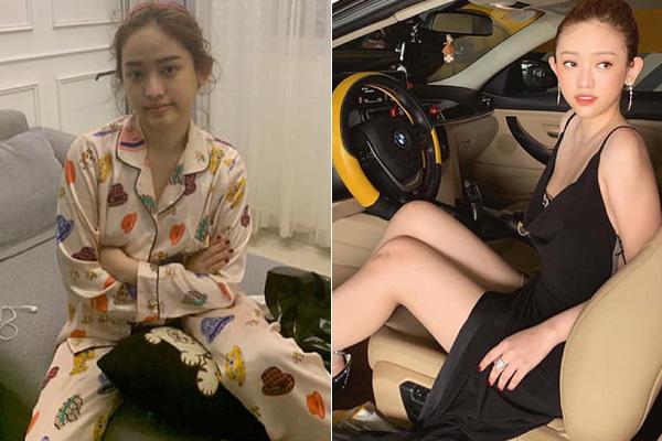 Thúy Vi mới đây tiết lộ sự thật sau những bức hình long lanh cô nàng đăng tải lên mạng xã hội. Khác với lúc lên đồ sexy, khi ở nhà, Thúy Vi để mặt mộc, tóc tai bù xù và mặc pyjama giản dị.