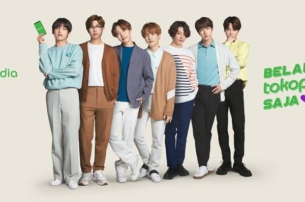 BTS vừa ký hợp đồng quảng cáo với một thương hiệu thương mại điện tử tại Indonesia.
