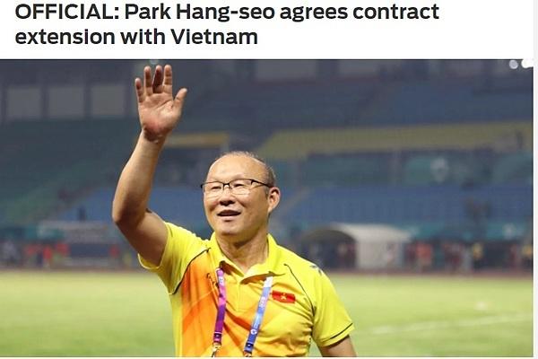 Tờ thể thao Fox Sports đưa tin về HLV Park gia hạn hợp đồng với Việt Nam.