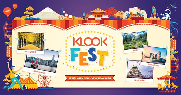 Sự kiện còn đem tới nhiều  ưu đãi giúp bạn tiết kiệm cho chuyến đi. Klook Fest là cơ hội vàng để săn deal hấp dẫn như vé tham quan, tour trong ngày, phương tiện vận chuyển, mua sim điện thoại và hơn 100,000+ dịch vụ & tiện ích du lịch với mức giá cạnh tranh mà bạn không thể tìm thấy online. Ví dụ như: mua 1 tặng 1, mua 2 tặng 1, mua dịch vụ tặng SIM 3G/4G nước ngoài miễn phí, giảm 30% dịch vụ visa Nhật Bản & Hàn Quốc trên Klook cùng hàng trăm ưu đãi vé máy bay & khách sạn từ các đối tác của Klook.