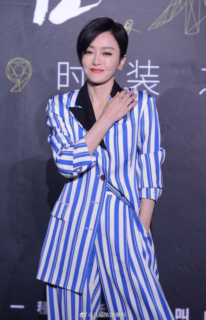 <p> ''Hoàng hậu Phú Sát'' Tần Lam cá tính với mái tóc ngắn.</p>