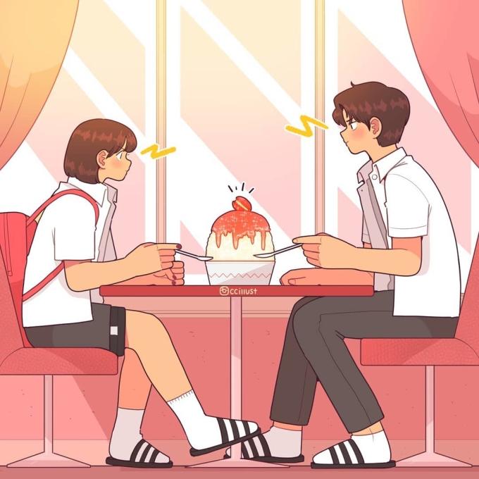 <p> Rồi những lúc ta vô tình bắt gặp ánh mắt của nhau, phút giây ngượng ngùng chẳng nói lên lời.</p>