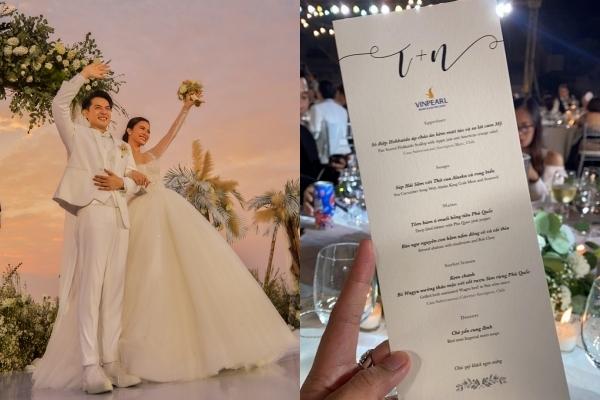 Thực đơn trong tiệc cưới hơn 10 tỷ của Đông Nhi - Ông Cao Thắng