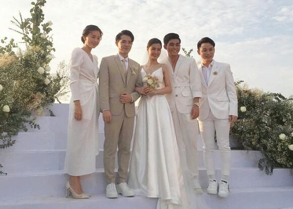 Ngô Thanh Vân dự đám cưới của Đông Nhi.