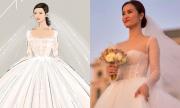 Váy cưới 'cổ tích' của Đông Nhi: Từ bản vẽ đến thực tế