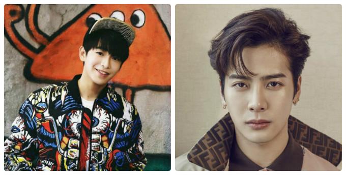 <p> Bành Dục Sướng (trái) và Jackson là bạn cùng tuổi, sinh năm 1994. Thành viên GOT7 có khuôn mặt sắc sảo, già trước tuổi còn Bành Dục Sướng vẫn được chọn đóng vai học sinh vì vẻ ngoài trẻ trung.</p>