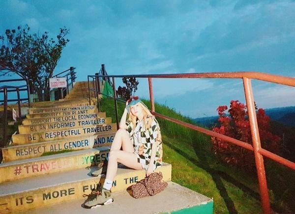 Dara có ảnh sống ảo ở điểm du lịch nổi tiếng của Philippines.