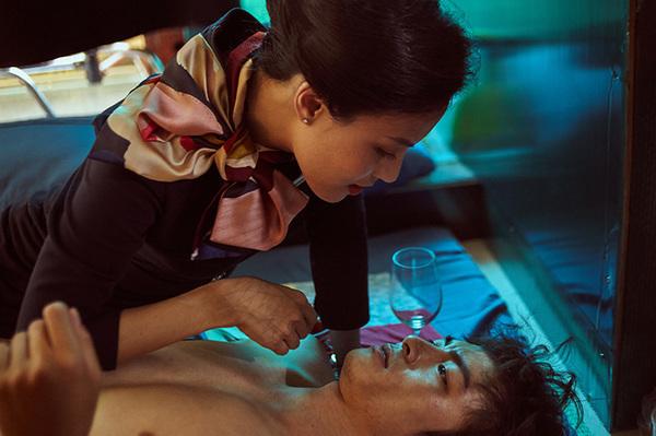 Hai diễn viên chính Lãnh Thanh và Ngọc Anh trong phim.