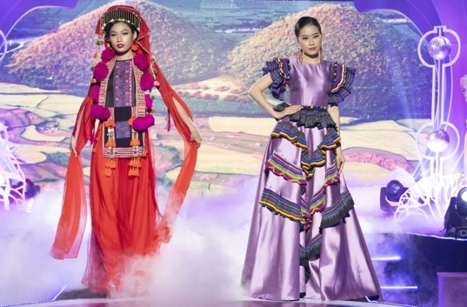 Lê Âu Ngân Anh diễn thời trang mang cảm hứng Tây Bắc - 6