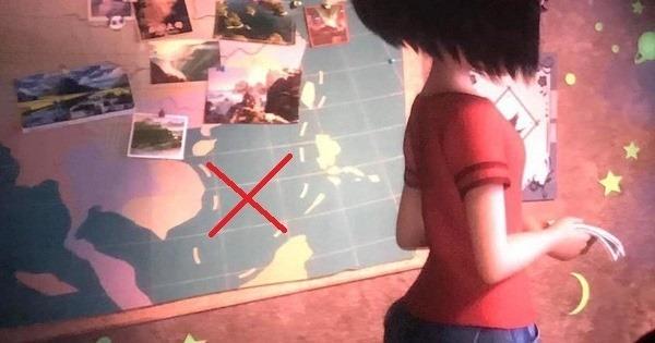 Đường lưỡi bò do Trung Quốc đơn phương công nhận được cài cắm trong phim Người tuyết bé nhỏ.