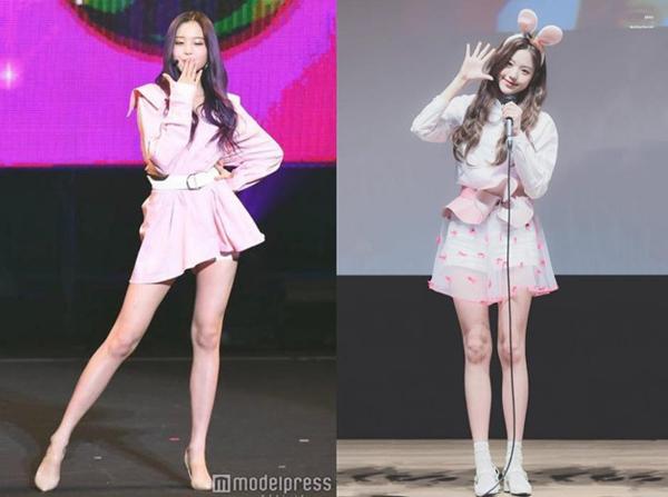 Jang Won Young trở thành center của IZ*ONE khi mới 14 tuổi. Cô nàng cũng là thành viên cao nhất nhì của nhóm. Cô nàng nhiều lần trở thành chủ đề nóng trên mạng xã hội Hàn nhờ tỷ lệ cơ thể ấn tượng. Truyền thông Nhật Bản còn khen ngợi Jang Won Young là vẻ đẹp bước ra từ truyện tranh. Nhiều ý kiến nhận xét đôi chân của nữ thần tượng dài đến mức vô thực.