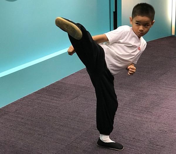 Wu đạt 158 huy chương dù mới 7 tuổi. Ảnh: CNA.
