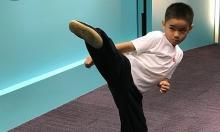 'Ngôi sao võ thuật' 7 tuổi lập kỷ lục Guinness