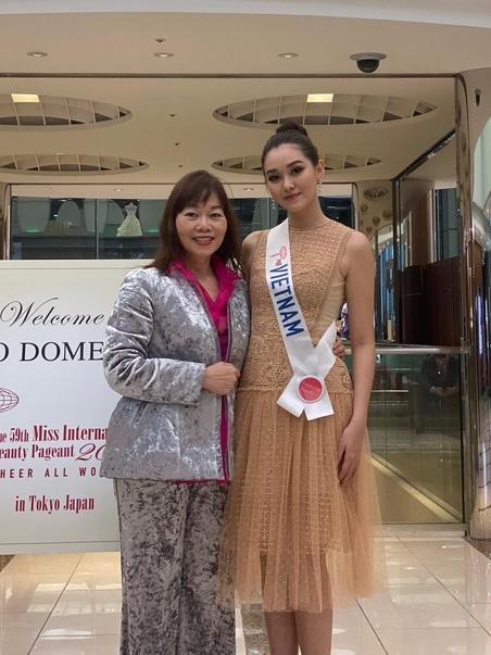 Tường San và mẹ sauchung kết cuộc thi.