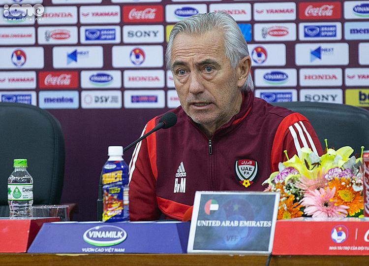 HLV trưởng ĐT UAE Bert van Marwijk. Ảnh: Tùng Đinh