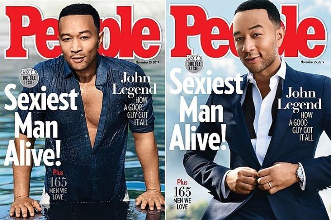 John Legend trên bìa tạp chí People.