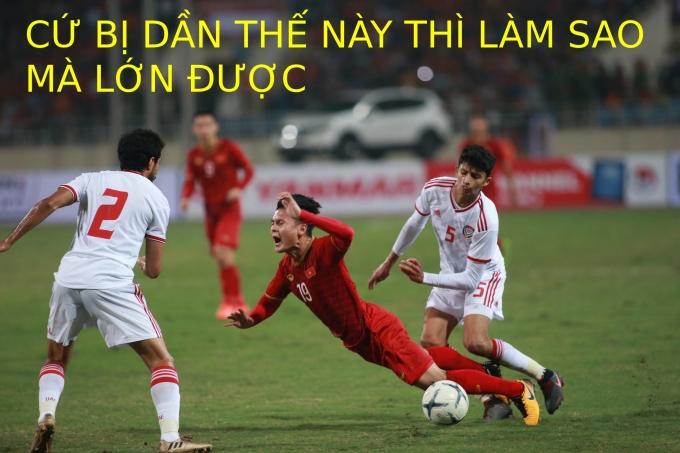 <p> Cầu thủ nhỏ con nhưng có võ của tuyển Việt Nam.</p>