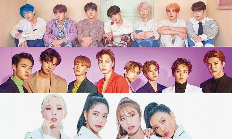 BTS, EXO và Mamamoo là những nhóm nhạc thần tượng duy nhất vào top 10 nghệ sĩ hàng đầuMMA 2019.