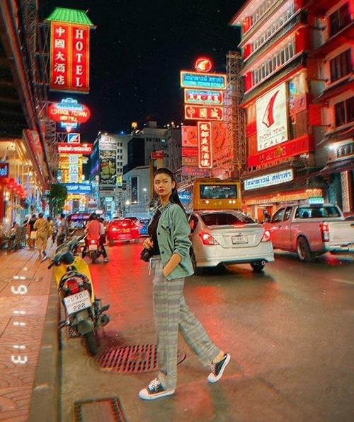 Trương Quỳnh Anh đi du lịch Thái Lan cùng Tim.