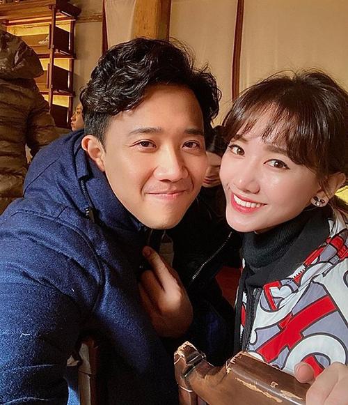 Trấn Thành - Hari Won rủ nhau ăn bất chấp ở Hàn Quốc.