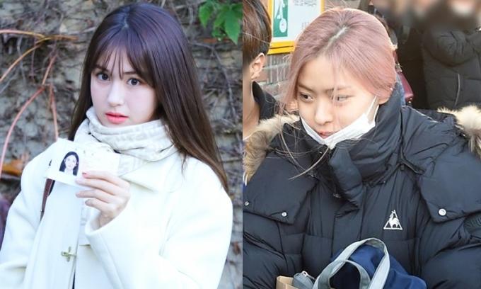 Somi ăn diện, Ryu Jin (ITZY) giản dị đi thi đại học
