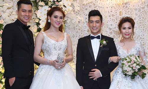 Sao Việt bị chê ''mặc lố'' lấn át cô dâu khi đi đám cưới
