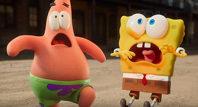...khiến Bob và Patrick giật mình sợ hãi.
