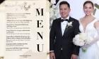 Thực đơn tiệc cưới của Giang Hồng Ngọc