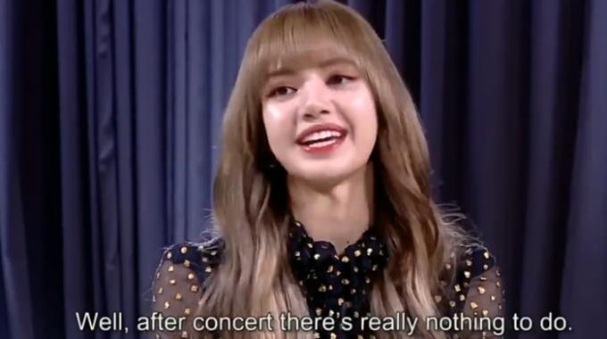 Lia nói: Sau những concert thì chúng tôi không có gì để làm cả.