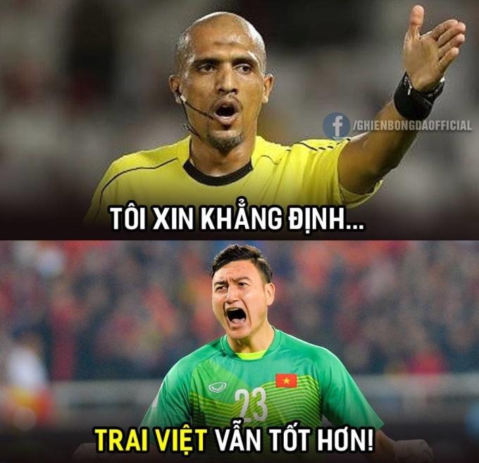 Văn Lâm 'vững như tường thành' trong trận đấu với Thái Lan