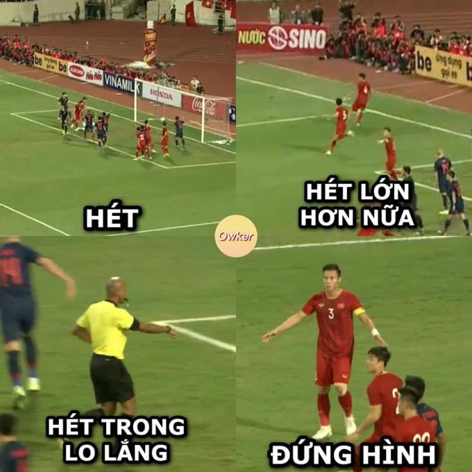 <p> Tâm trạng của hàng triệu người hâm mộ Việt sau quyết định từ trọng tài.</p>