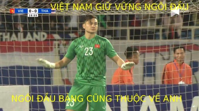 <p> Việt Nam vững ngôi đầu sau trận hòa Thái Lan.</p>