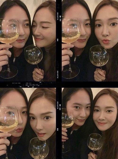 Krystal khoe chị gái Jessica là người bạn thân thiết.
