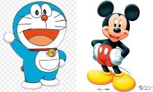 Nhân vật hoạt hình nào 'cute' nhất: Doraemon hay Mickey?