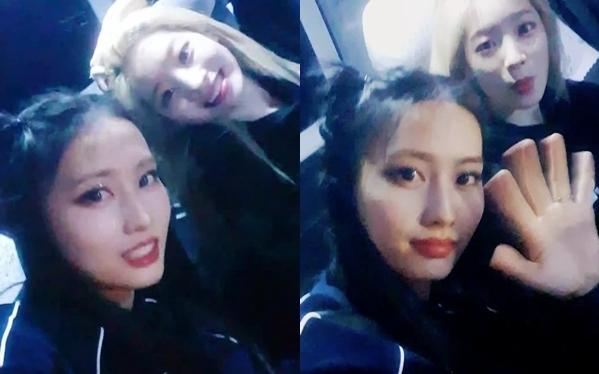 Momo và Da Hyun bị fan cuồng đuổi theo khi đang đi trên xe về khách sạn.