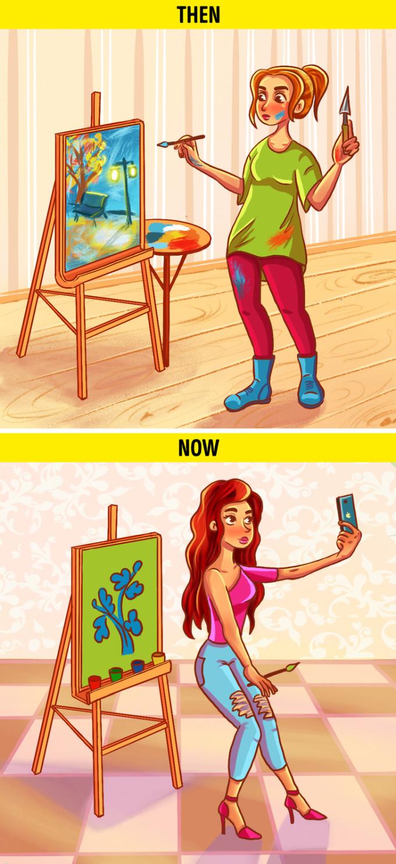 <p> Ngày trước bạn thích vẽ, thích hát vì đó là đam mê. Nhưng giờ đây, đam mê của bạn là được chụp ảnh sống ảo và đăng mọi thứ lên mạng xã hội.</p>