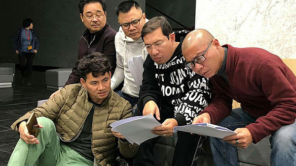 Các nghệ sĩ tập Táo Quân 2019.