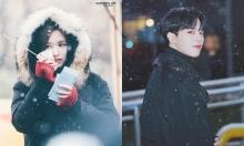 Sao Kpop đẹp như phim dưới tuyết rơi